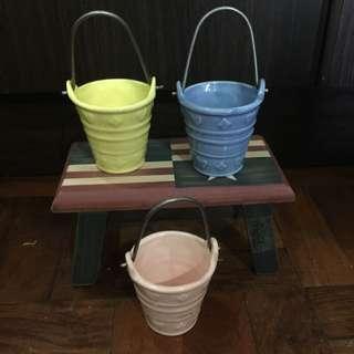 Set Of 3 Mini Clay Tumblers