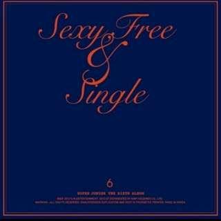 SJ第六張專輯 sexy free&single 台壓版 A版