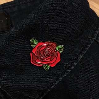 Red Rose Enamel Pin