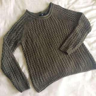 H&M Army Green Sweater