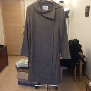 Lu Lu Cheung Wool + Silk Coat Size 40