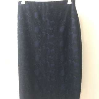 Tokito Size 10 Work Skirt - High Waisted Pencil With Stretch - Bodycon