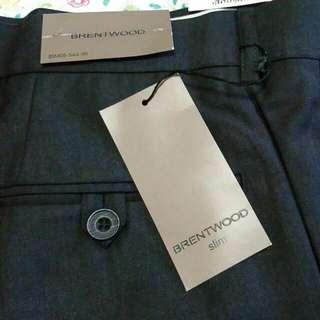 Slim Fit Pants Brentwood. Size 38. Very Dark Grey