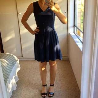 Navy Blue Glassons Dress, Size 8