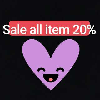 Sell All Item 20% !! Yuhuuu grab it fast