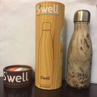 全新美國Swell 保温瓶  雙層真空不鏽鋼 保溫杯 保暖杯 保冷杯 保溫水杯 保冷水杯 (木紋最受歡迎)