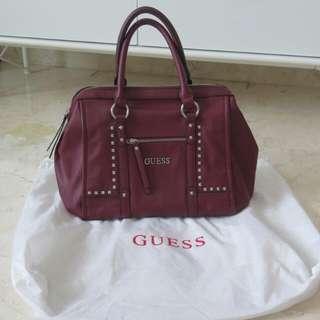 Guess Bag Maroon Asli