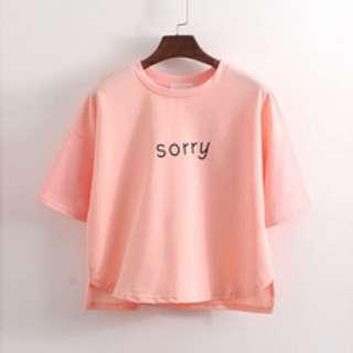 'sorry' shirt [pending]
