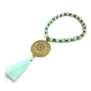 • Aqua • Handmade Bead Bracelet • Only 1 Piece Available! One Of A Kind!