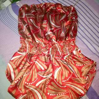 elle would strapless blouse