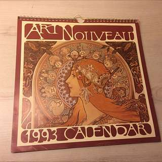 Art Nouveau 1993 Calendar