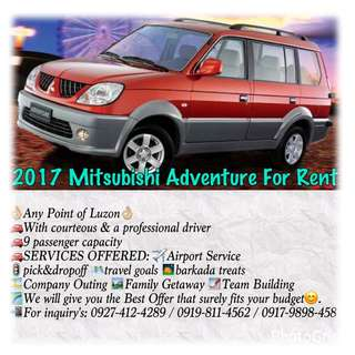 MITSUBISHI ADVENTURE 2017 For Rent