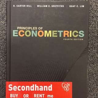 ECOM20001: PRINCIPLES OF ECONOMETRICS textbook (4th Edition)