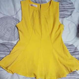 Bright Yellow Pemblum Top