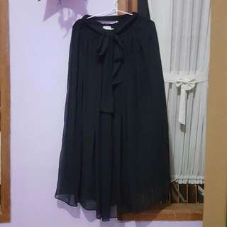 Black Skirt By Button Skirt