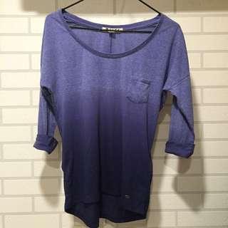 ROXY漸層七分袖上衣 可當比基尼外罩衫