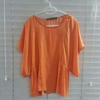 Zara Orange Blouse