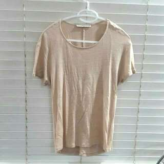 Zara Beige/gold Shirt