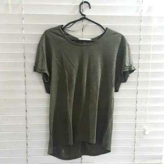 Zara Army Green/gold Shirt