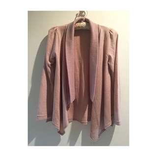 淺粉針織罩衫