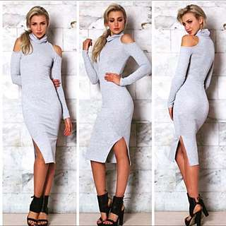 Grey Cut Out Dress