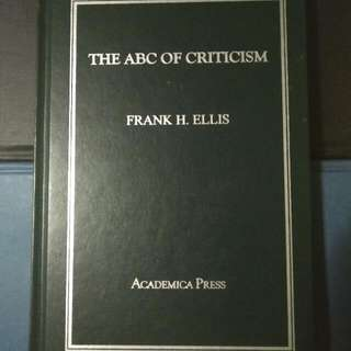 The ABC of Criticism