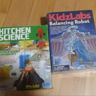 Kitchen Science And Balanzing Robot. Both For $10. 1 Opened and 1 Mint