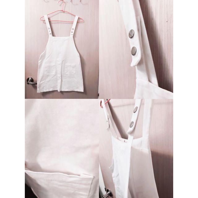 二手近全新の白色吊帶裙🙋