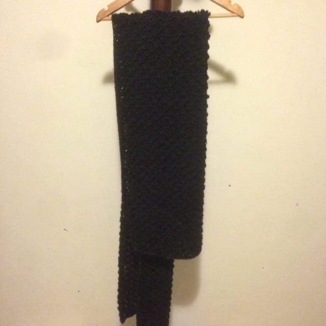 超保暖邊鑲亮片圍巾