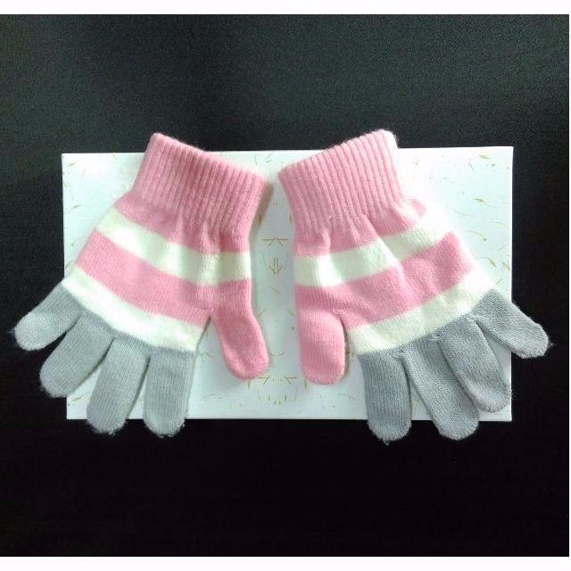 粉嫩條紋手套❤