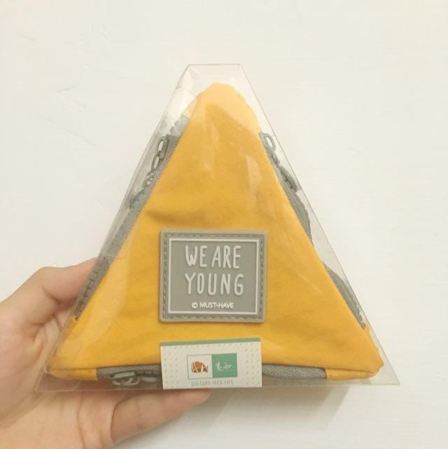 粉色披薩三角零錢包(黃色)