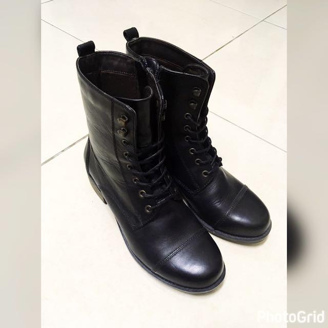 側拉鍊馬汀鞋