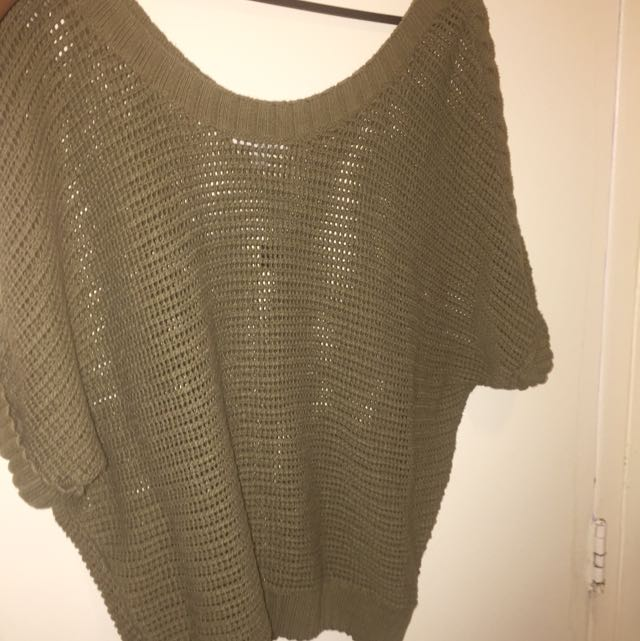 American Eagle Off The Shoulder Knitted Sweater