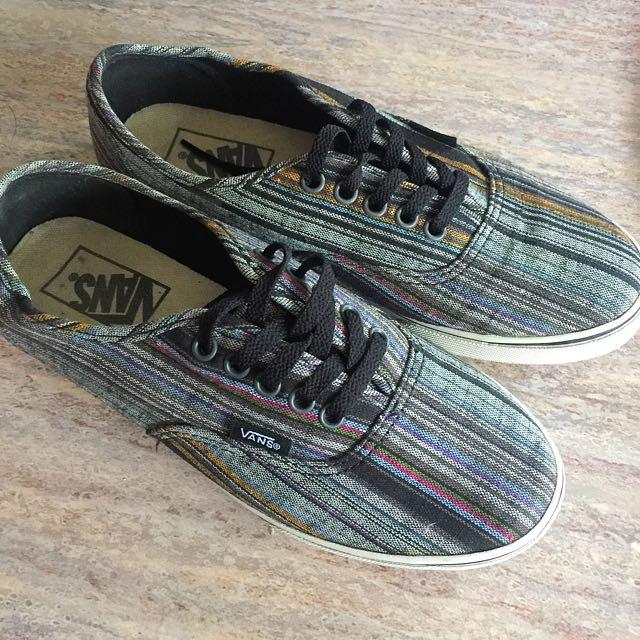 Authentic Vans Navy Shoes Size US 5.5