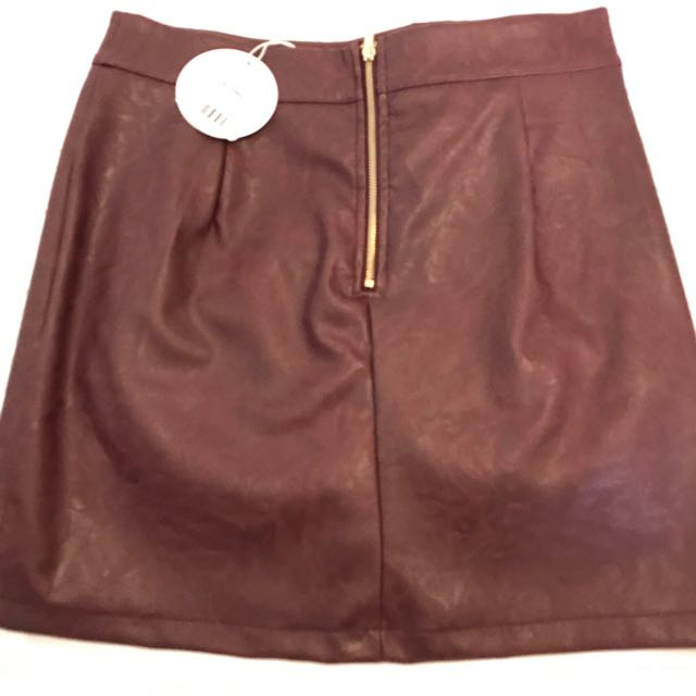 Ava Leather Skirt
