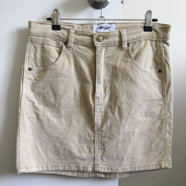 Ava+Ever Beige Mini Skirt, Size 12