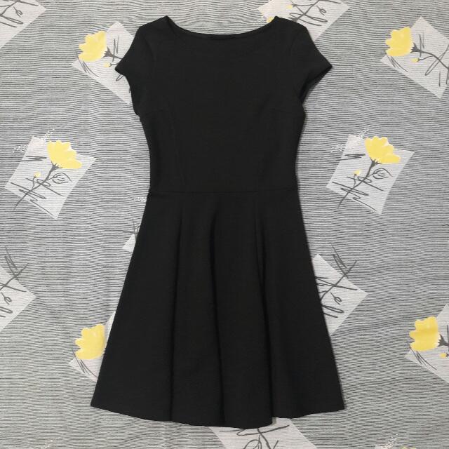Bershka Black Plain Dress
