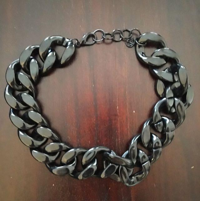 Black Plastic Chain Necklace