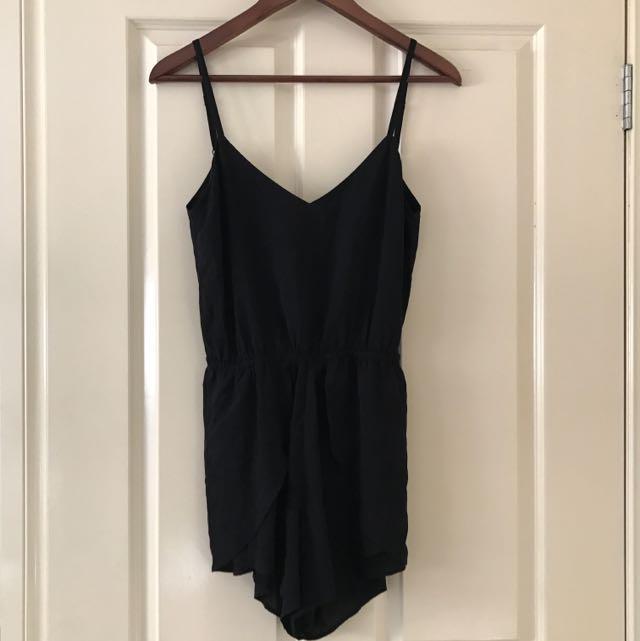 Black Short Jumpsuit