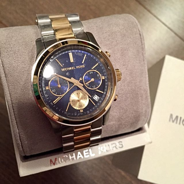 BNIB Gold And Silver Two Tone Michael Lots Watch