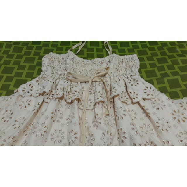 Markdown: Eyelet Cream Dress