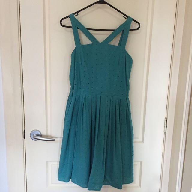 Dangerfield Turquoise Knee Length Dress