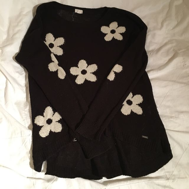 Embroidered Flower Sweater