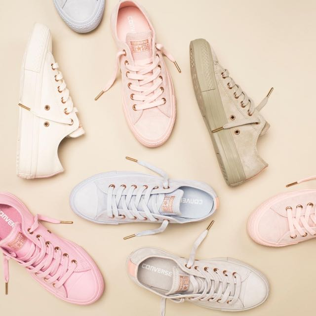 1dc3aaa9fef819 EXCLUSIVE  Converse All Star Low Leather Nudes Pastel Pack