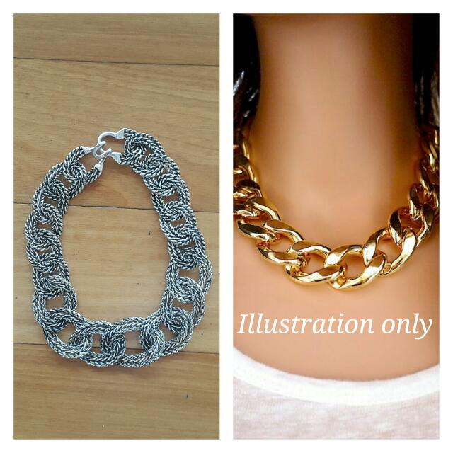 Executive Thick Silver Chain Necklace