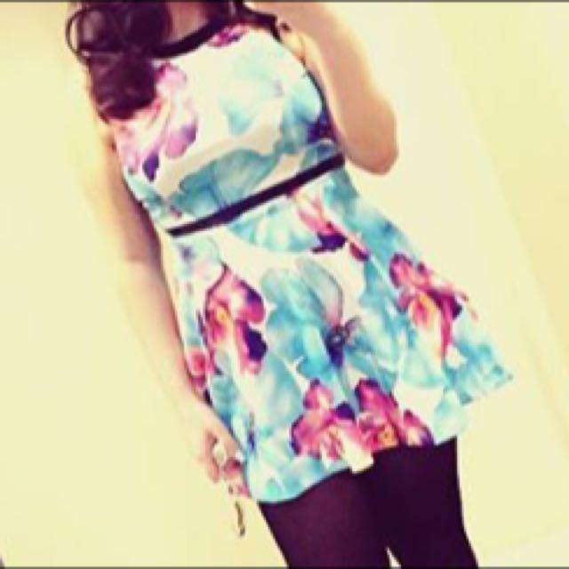 Floral Dress Party Size M