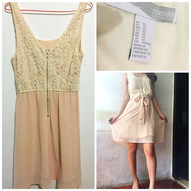 Forever21 Nude Lace Dress