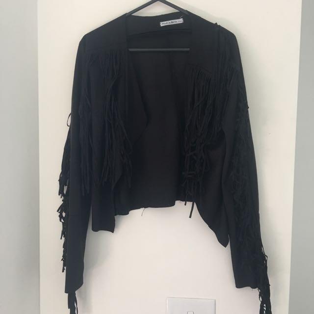 Fringe Jacket Black S/M
