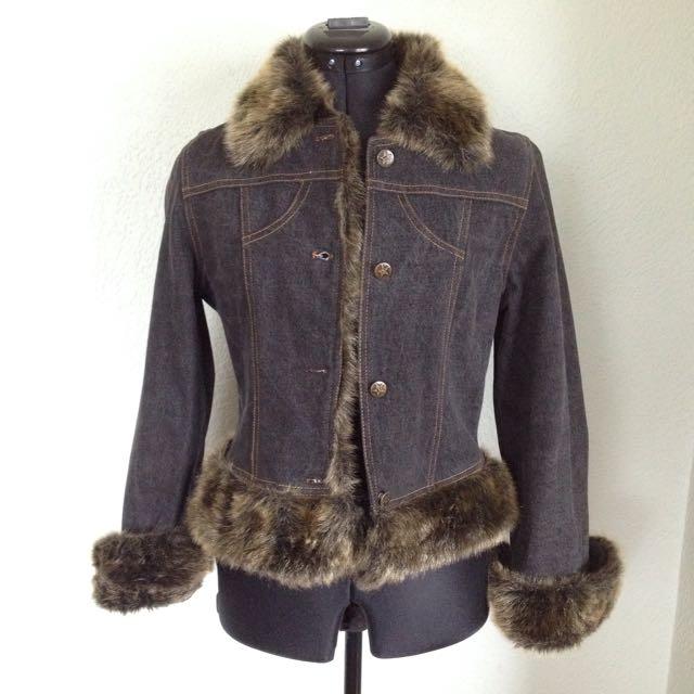 Vintage 'FRONT COVER' Denim Jacket - SizeS