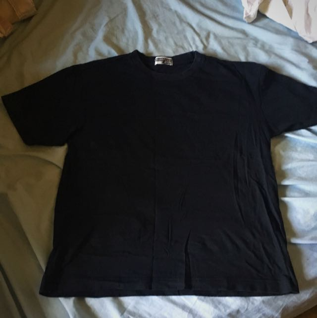 Giordano Black Cotton Tshirt